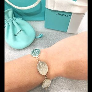 Tiffany and Co return to Tiffany coin bracelet 925